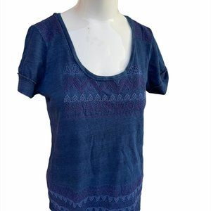 Lucky Brand T- Shirt Top Size S Round Neck